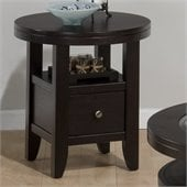Jofran Marlon Round End Table in Wenge