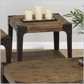 Jofran Timber Square End Table in Elm
