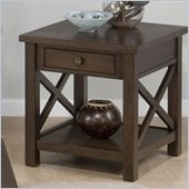 Jofran Xavier End Table in Birch
