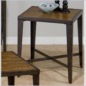 Jofran Glenna End Table in Elm and Black