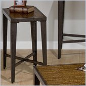 Jofran Glenna Chairside Table in Elm and Black