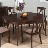 Jofran 369 Series Shaped Round Dining Table in Corsica Cherry Finish
