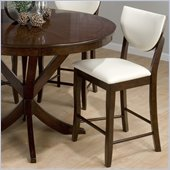 Jofran 433 Series Shield Back Faux Leather Counter Stool (Set of 2)