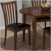 Jofran 487 Series Paula Faux Leather Dining Side Chair (Set of 2)