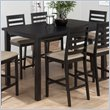ADD TO YOUR SET: Jofran 596 Series Counter Height Dining Table in Bonn Black Finish