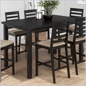 Jofran 596 Series Counter Height Dining Table in Bonn Black Finish