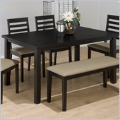 Jofran 596 Series Rectangular Dining Table in Bonn Black Finish