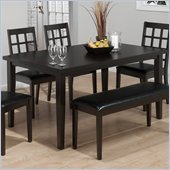 Jofran 936 Series Rectangular Dining Table in Basic Black Finish