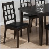 Jofran 936 Series Gridback Faux Leather Dining Side Chair (Set of 2)
