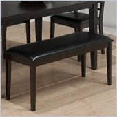 Jofran 936 Series Backless Faux Chestnut Leather Dining Bench