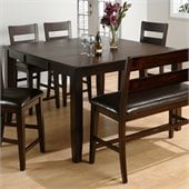Jofran 972 Series Counter Height Dining Table in Dark Rustic Prairie