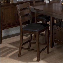 Jofran 23.5 Counter Stool in Taylor Brown Cherry (Set of 2)