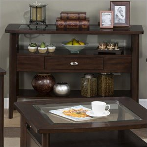 Jofran 827 Series Contemporary Sofa Table in Montego Merlot