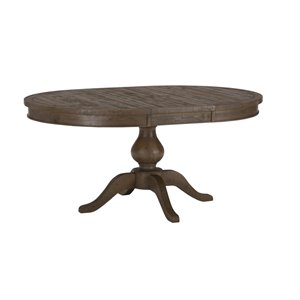 Jofran 941 Series Oval Dining Table in Slater Mill Pine
