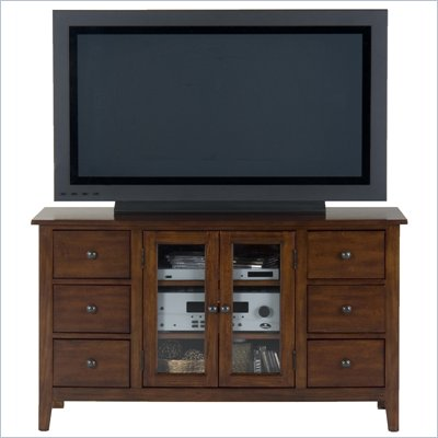 Jofran 043 Series TV Stand in Brentwood Oak Finish