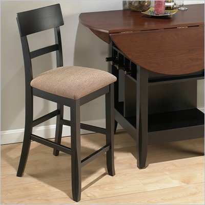 Jofran Counter Height Stool with Beige Fabric (Set of 2)