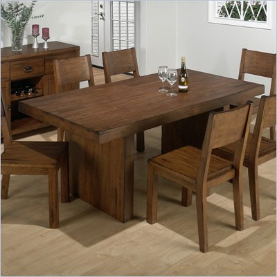 Jofran 7 Piece Dining Set in Braeburn Rough Hewn Cherry