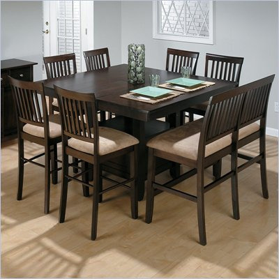 Jofran 6 Piece Counter Height Dining Set in Baker's Cherry