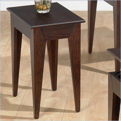 Jofran 401 Series Wood Chairside Table in Albion Oak