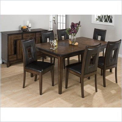 Jofran 431 Series 7 Piece Rectangular Formal Dining Table Set in Oak