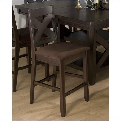 Jofran 453 Series Counter Height Dining Chair in Espresso (Set of 2)