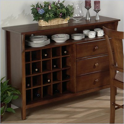 Jofran Dining Server in Saddle Brown Oak