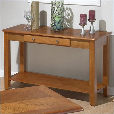 Jofran 480 Series Wood Sofa Table in Oak