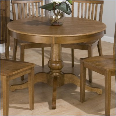Jofran 544 Series Round Dining Table in Antique Honey