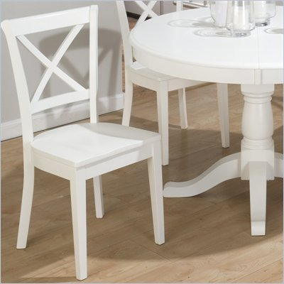 Jofran 662 Series Contoured X Back Wood Dining Side Chair (Set of 2)