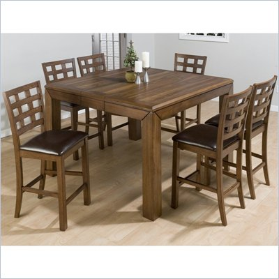 Jofran 737 Series 5 Piece Counter Height Dining Table Set in Walnut
