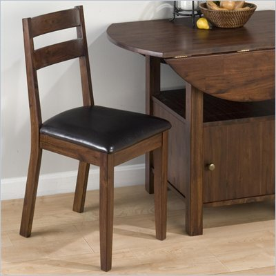 Jofran 743 Series Slat Back Faux Leather Dining Side Chair (Set of 2)
