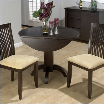 Jofran3 Piece Conventional Height Dining Set in Dark Chianti