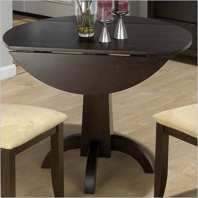 Jofran Double Drop Leaf Casual Dining Table in Dark Chianti Finish