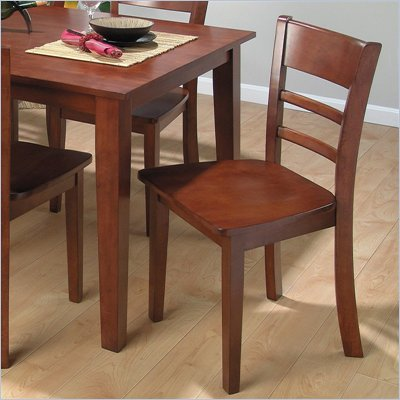 Jofran Lifestyle Wood Side Chair in Bailey Finish (Set of 2)