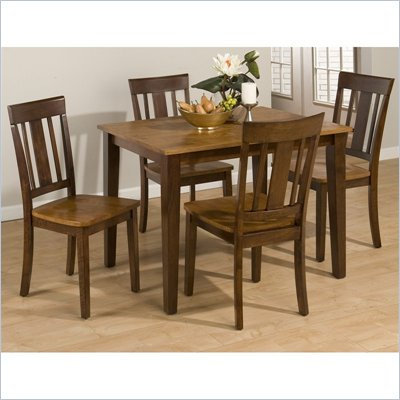 Jofran 875 Series 5 Piece Casual Dining Table Set in Espresso and Gold