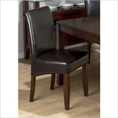 Jofran 888 Series Chestnut Bonded Leather Parson Chair (Set of 2)