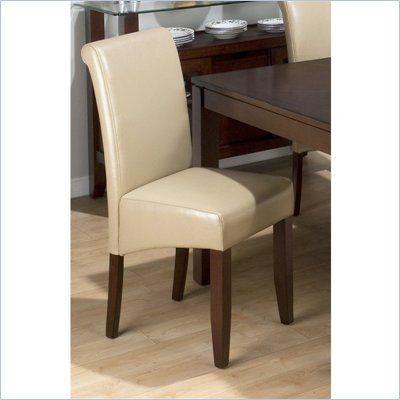 Jofran 888 Series Sandstone Bonded Leather Parson Chair (Set of 2)