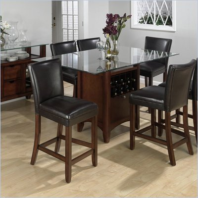 Jofran 5 Piece Dining Set in Carlsbad Cherry