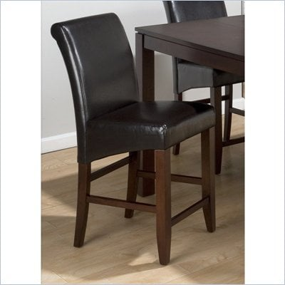 Jofran 888 Series Chestnut Leather Counter Height Stool (Set of 2)