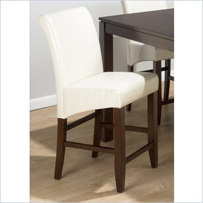 Jofran 888 Series Ivory Leather Counter Height Stool (Set of 2)