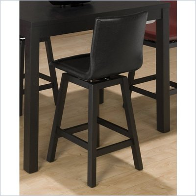 Jofran 960 Series Bain Black Leather Counter Height Stool (Set of 2)