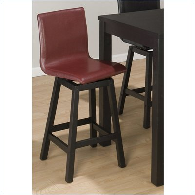 Jofran 960 Series Bain Red Leather Counter Height Stool (Set of 2)