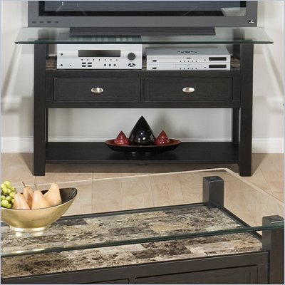 Jofran Marble Techmetric TV Stand / Sofa Table in Basic Black