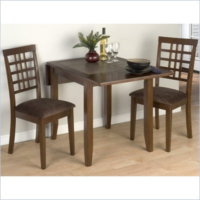 Jofran 976 Series 3 Piece Casual Dining Table Set in Caleb Brown