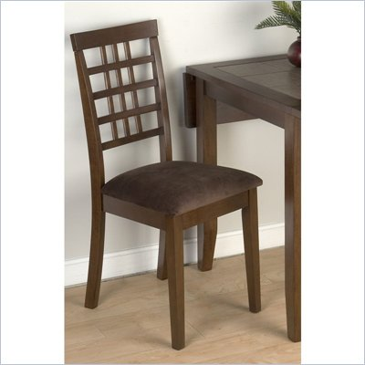 Jofran 976 Series Fabric Dining Side Chair in Caleb Brown (Set of 2)