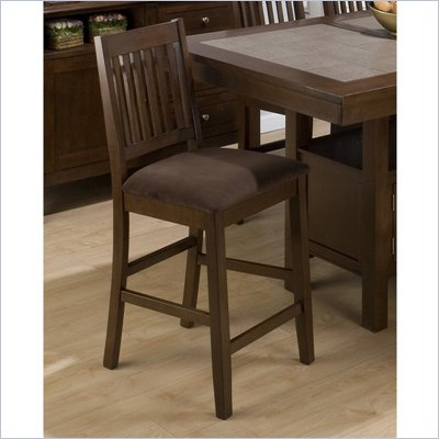 Jofran 976 Series Barnes Counter Height Stool in Brown (Set of 2)
