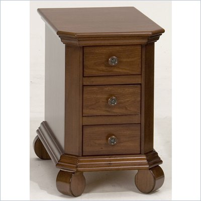 Jofran Killarny Chairside Table in Cherry