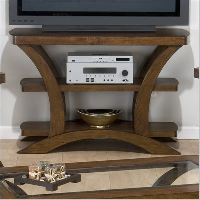 Jofran Kirstin Sofa Table/TV Stand with Wood Top in Cherry
