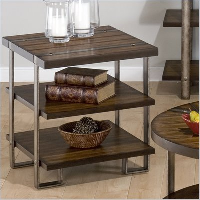 Jofran Malden End Table in Brown