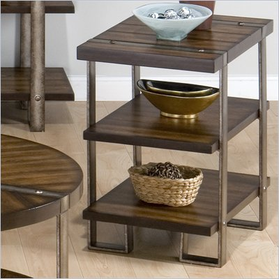Jofran Malden Chairside Table in Brown